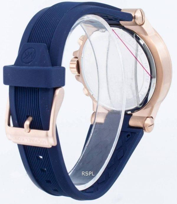 Michael Kors Chronograph Dylan Navy Silicone Strap MK8295 Men's Watch
