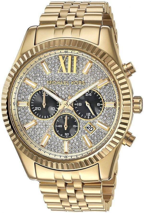 Michael Kors Lexington Chronograph Quartz Crystal Accent MK8494 Men's Watch
