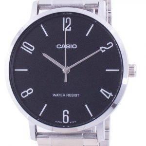 Casio Black Dial Stainless Steel Quartz MTP-VT01D-1B2 MTPVT01D-1B2 Men's Watch