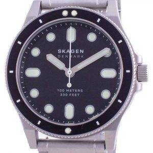 Skagen Fisk Black Dial Stainless Steel Quartz SKW6666 100M Men's Watch