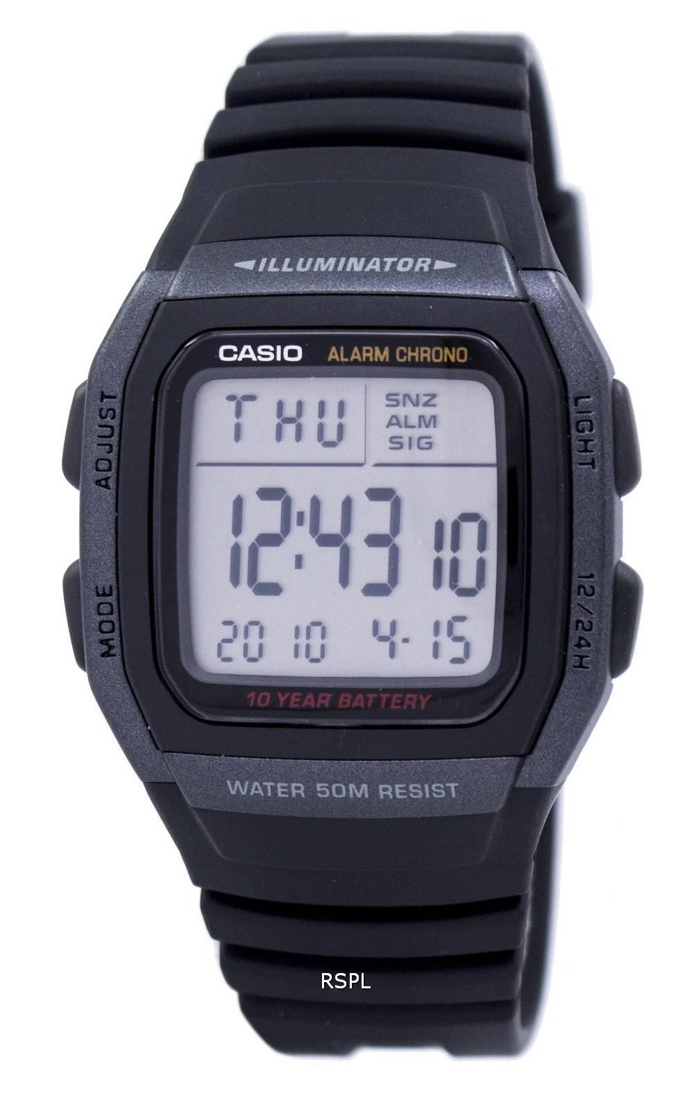 Casio Youth Digital Illuminator W-96H-1BVDF W96H-1BVDF Men's Watch
