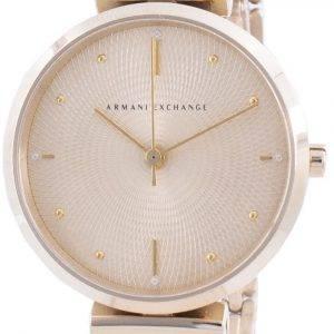 Armani Exchange Zoe Gold Tone Dial Diamond Accents Quartz AX5902 Women's Watch
