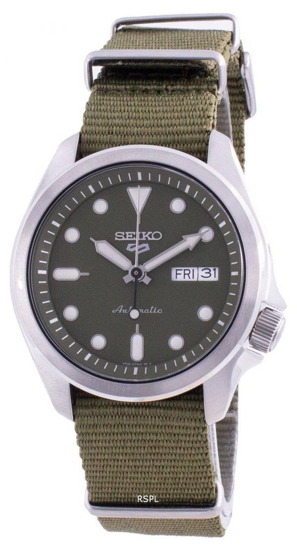 Seiko 5 Sports Green Dial Nylon Strap Automatic SRPE65 SRPE65K1 SRPE65K 100M Men's Watch