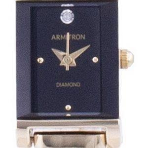 Armitron Black Dial Diamond Accents Quartz 755322BKGP Womens Watch