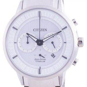 Citizen Super Titanium White Dial Eco Drive CA4400-88A 100M Mens Watch