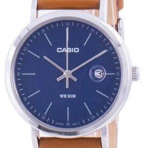 Casio Analog Blue Dial Leather Strap LTP-E175L-2E LTPE175L-2 Womens Watch