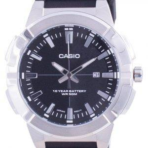 Casio Analog Black Dial Resin Strap MTP-E172-1A MTPE172-1 Mens Watch