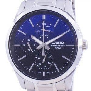 Casio Analog Blue Dial Stainless Steel Quartz MTP-E330D-2A MTPE330D-2 Mens Watch