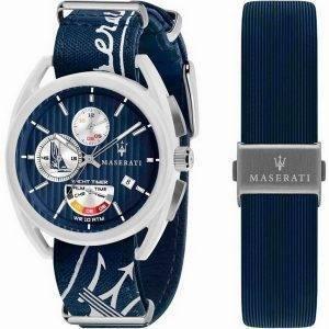 Maserati Trimarano Yacht Timer Chronograph Quartz R8851132003 100M Mens Watch