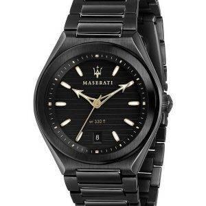 Maserati Triconic Black Dial Quartz R8853139004 100M Mens Watch