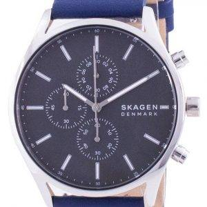 Skagen Holst Chronograph Leather Strap Quartz SKW6653 Mens Watch