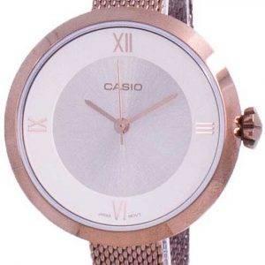 Casio Analog Silver Dial LTP-E154MR-9A LTPE154MR-9A Womens Watch