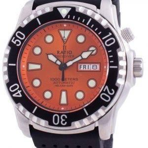 Ratio FreeDiver Helium-Safe 1000M Sapphire Automatic 1068HA90-34VA-ORG Men's Watch