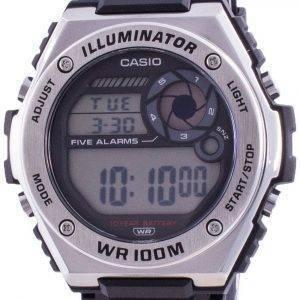 Casio Illuminator Digital MWD-100H-1A MWD100H-1 100M Mens Watch