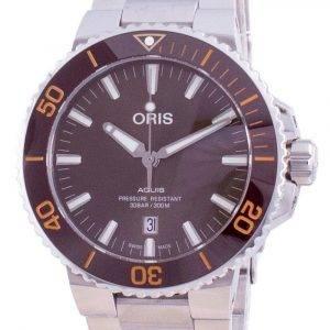Oris Aquis Date Automatic Diver's 01-733-7730-4152-07-8-24-05PEB 300M Men's Watch