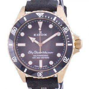 Edox Skydiver Military Limited Edition Automatic 80115BRZNNDR 80115 BRZN NDR 300M Men's Watch