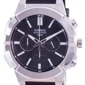 Casio Multi Hands Analog Quartz Chronograph MTP-E500-1A MTP-E500-1 Men's Watch
