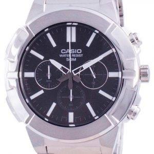 Casio Multi Hands Analog Quartz Chronograph MTP-E500D-1A MTP-E500D-1 Men's Watch