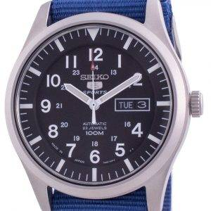 Seiko 5 Sports Black Dial Automatic SNZG15J1-var-NATO8 100M Men's Watch
