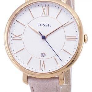 Refurbished Fossil Jacqueline Quartz Blush Leather Strap ES3988 Women's Watch