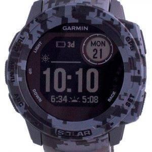 Garmin Instinct Solar Tactical Edition Graphite Camo Silicone Band 010-02293-05 Multisport Watch