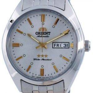 Orient 3 Star White Dial Automatic RA-AB0E10S19B 100M Men's Watch