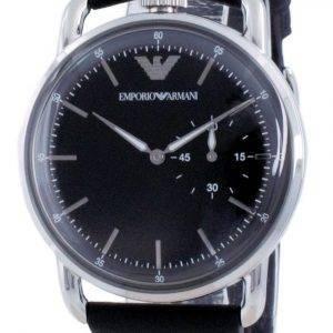 Emporio Armani Black Dial Leather Quartz AR11336 Mens Watch