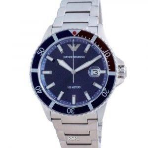 Emporio Armani Blue Dial Stainless Steel Quartz AR11339 100M Men's Watch