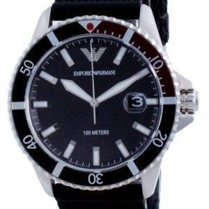 Emporio Armani Black Dial Rubber Quartz AR11341 100M Mens Watch