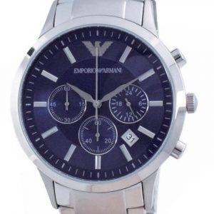 Emporio Armani Renato Classic Chronograph Blue Dial Quartz AR2448 Men's Watch