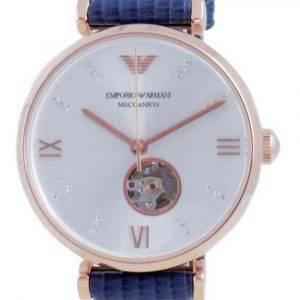 Emporio Armani Gianni T-BAR Open Heart Silver Dial Automatic AR60020 Women's Watch