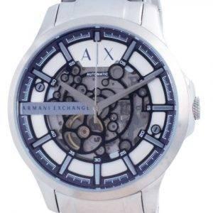 Armani Exchange Hampton Skeleton Stainless Steel Automatic AX2416 Mens Watch