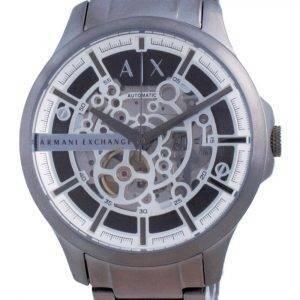 Armani Exchange Hampton Skeleton Stainless Steel Automatic AX2417 Mens Watch