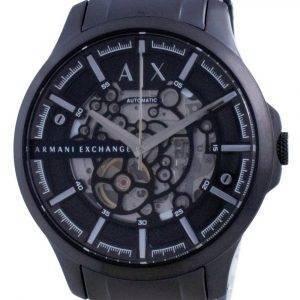 Armani Exchange Hampton Skeleton Stainless Steel Automatic AX2418 Mens Watch