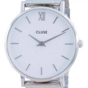 Cluse Minuit 3-Link White Dial Stainless Steel Quartz CW0101203026 Womens Watch