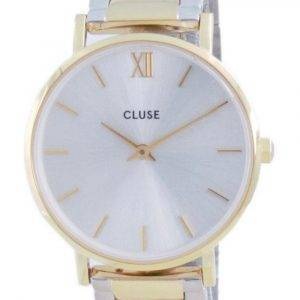 Cluse Minuit 3-Link Silver Dial Two Tone Stainless Steel Quartz CW0101203028  Womens Watch