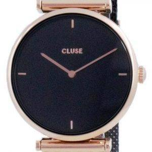 Cluse Triomphe Black Dial Two Tone Stainless Steel Quartz CW0101208005 Womens Watch