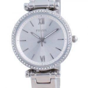 Fossil Carlie Mini Silver Dial Daimond Accents Quartz ES4956 Womens Watch