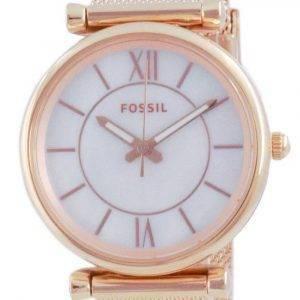 Fossil Carlie Rose Gold Tone Quartz ES5058SET Women's Watch