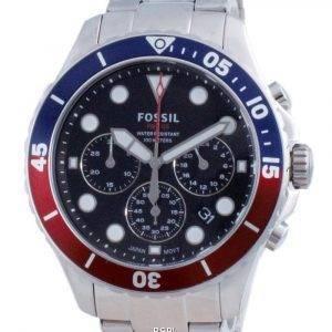 Fossil FB-03 Chronograph Black Dial Stainless Steel Quartz FS5767 100M Mens Watch