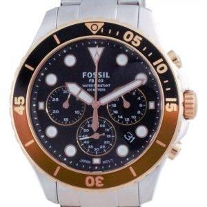 Fossil FB-03 Chronograph Black Dial Stainless Steel Quartz FS5768 100M Mens Watch