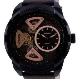 Fossil Bronson Twist Open Heart Brown Dial Mechanical ME1172 Men's Watch