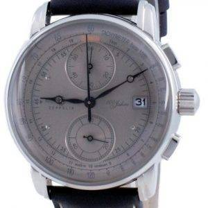 Zeppelin 100 Jahre Chronograph Grey Dial Quartz 8670-0 86700 Men's Watch