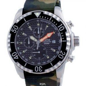 Ratio Free Diver Chronograph Nylon Quartz Diver's 48HA90-17-CHR-BLK-var-NATO5 200M Men's Watch