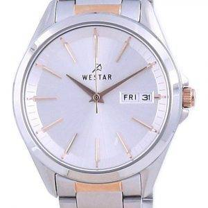 Westar Silver Dial Two Tone Stainless Steel Quartz 40212 SPN 607 Women's Watch