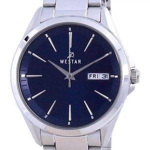 Westar Blue Dial Stainless Steel Quartz 40212 STN 104 Women's Watch