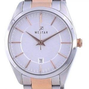 Westar Silver Dial Two Tone Stainless Steel Quartz 40213 SPN 607 Women's Watch
