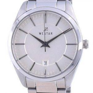 Westar Champagne Dial Stainless Steel Quartz 40213 STN 102 Women's Watch