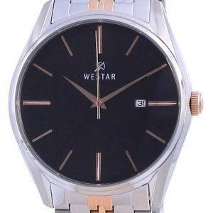 Westar Black Dial Two Tone Stainless Steel Quartz 50210 SPN 603 Men's Watch