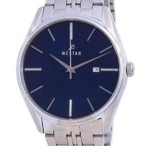 Westar Blue Dial Stainless Steel Quartz 50210 STN 104 Men's Watch